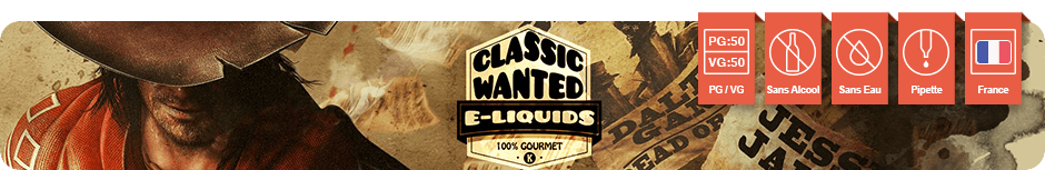 Classic Wanted gamme e-liquides classic tabac VDLV