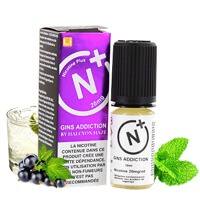 Gin's Addiction sel de nicotine - Nicotine Plus - Halcyon Haze